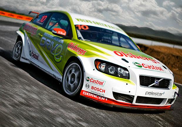 El equipo Volvo del STCC en el Circuito de Guadix