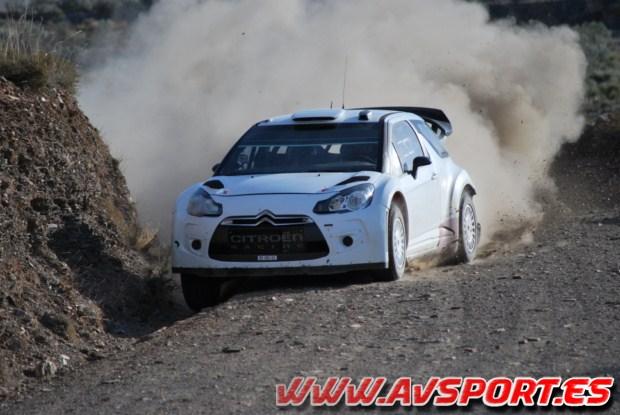 Loeb y Ogier ponen a punto el Citroen DS3 WRC en Almería